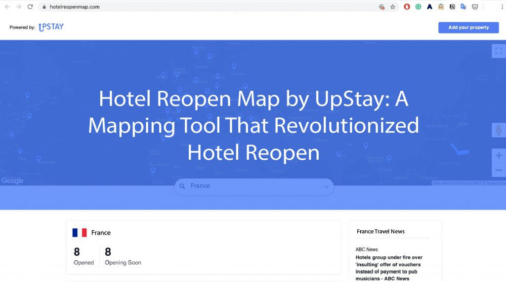 Hotel Reopen Map by UpStay: A Mapping Tool That Revolutionized Hotel Reopen